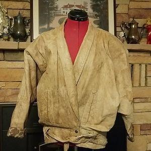 Vintage Leather Bomber Jacket Winlet